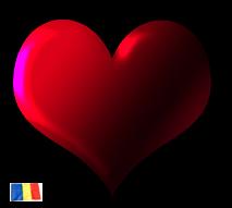 Romanian heart symbolizing love