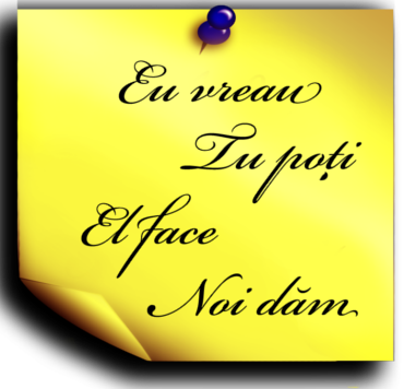 Romanian verbs to can, to want, to do, to take, to give